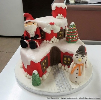 Decorate your own Christmas cake
