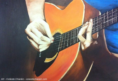 Painting of guitar