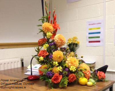 Flower Arranging course, Dundalk, Co Louth