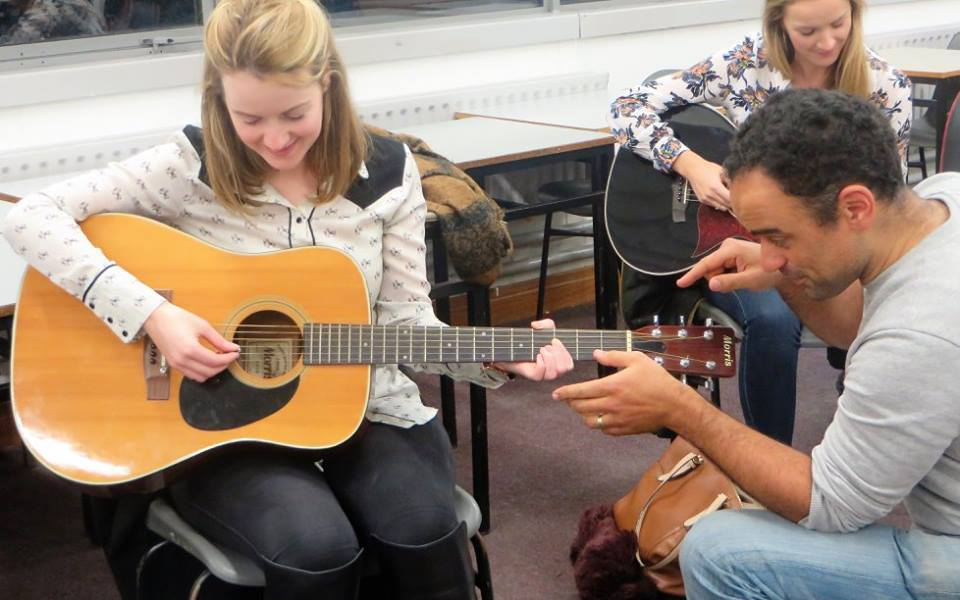 Teach the guitar to Adult Learners