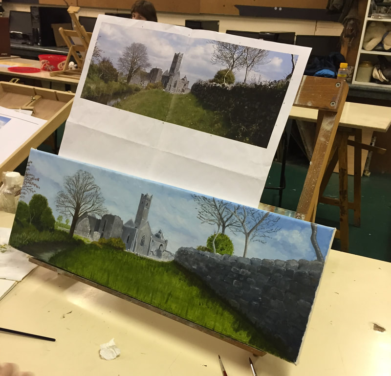 Learn to paint at Crescent College SJ, Limerick