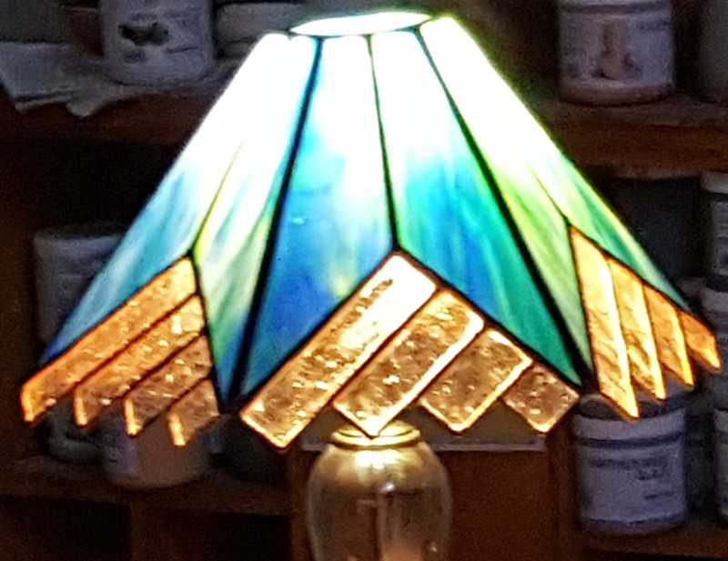 Lamp in Stained Glass