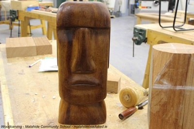 Woodcarving, Malahide Community School